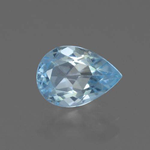 Sky Blue Topaz Gem - 0.8ct Pear Facet (ID: 456014)