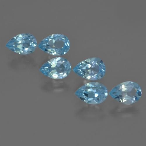 Sky Blue Topaz Gem - 0.6ct Pear Facet (ID: 456022)
