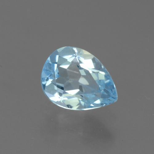 Sky Blue Topaz Gem - 0.8ct Pear Facet (ID: 456195)