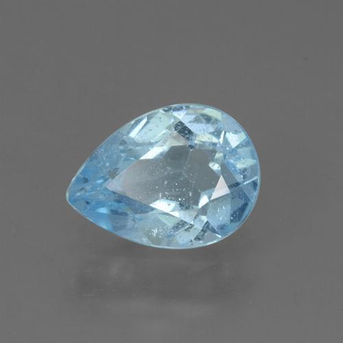 Sky Blue Topaz Gem - 0.9ct Pear Facet (ID: 456199)