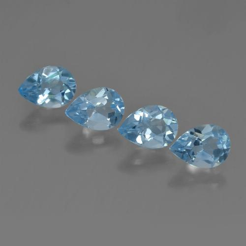 Sky Blue Topaz Gem - 0.9ct Pear Facet (ID: 456259)