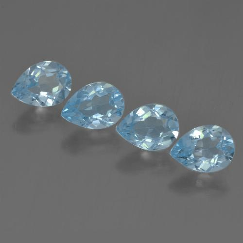 Sky Blue Topaz Gem - 0.9ct Pear Facet (ID: 456260)