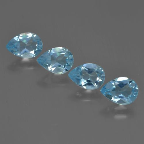 Sky Blue Topaz Gem - 0.8ct Pear Facet (ID: 456264)