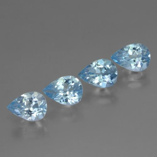 Sky Blue Topaz Gem - 0.8ct Pear Facet (ID: 456372)