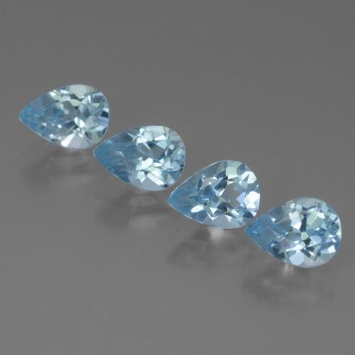 Sky Blue Topaz Gem - 0.8ct Pear Facet (ID: 456471)