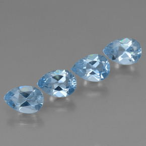 Sky Blue Topaz Gem - 0.8ct Pear Facet (ID: 456476)