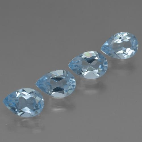 Sky Blue Topaz Gem - 0.8ct Pear Facet (ID: 456478)