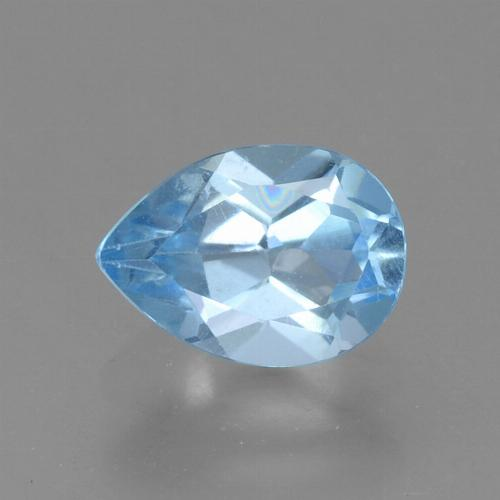 Sky Blue Topaz Gem - 0.9ct Pear Facet (ID: 456581)