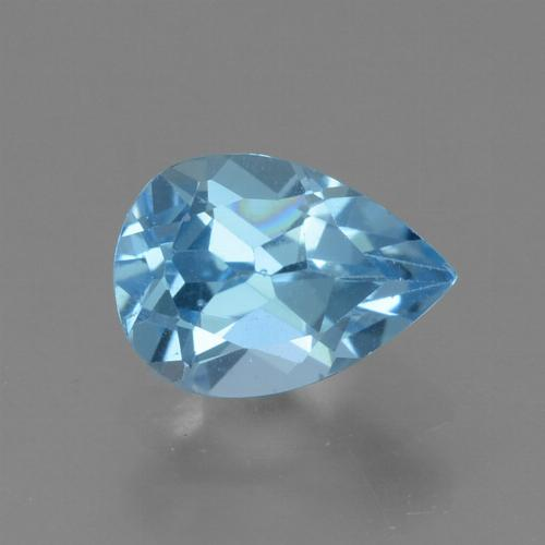 Light Cyan Blue Topacio Gema - 0.9ct Corte en forma de pera (ID: 456587)