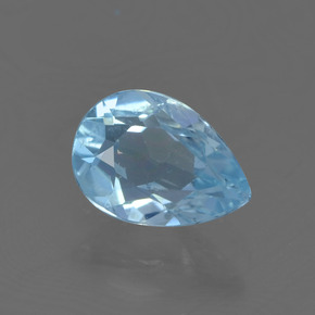Sky Blue Topaz Gem - 0.8ct Pear Facet (ID: 456751)