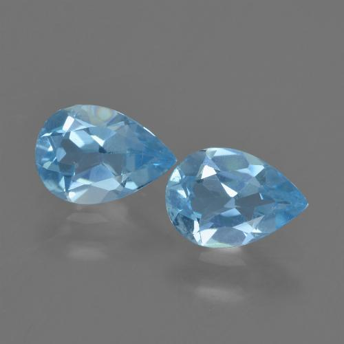 Baby Blue Topaz Gem - 0.8ct Pear Facet (ID: 457204)