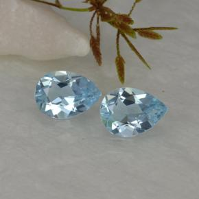 Sky Blue Topaz Gem - 0.7ct Pear Facet (ID: 457206)