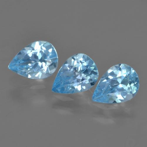 Sky Blue Topaz Gem - 0.7ct Pear Facet (ID: 457213)