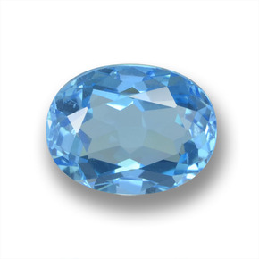 Sky Blue Topaz Gem - 2.5ct Oval Facet (ID: 459362)