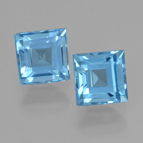 Sky Blue Topaz Gem - 2.3ct Square Step-Cut (ID: 461471)
