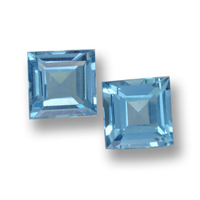 Sky Blue Topaz Gem - 2.1ct Square Step-Cut (ID: 461472)
