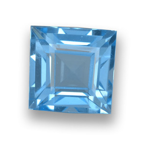 Sky Blue Topaz Gem - 1.9ct Square Step-Cut (ID: 461496)