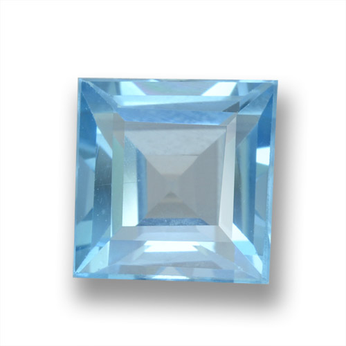 Sky Blue Topaz Gem - 1.9ct Square Step-Cut (ID: 461553)