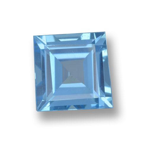 Sky Blue Topaz Gem - 2ct Square Step-Cut (ID: 461566)