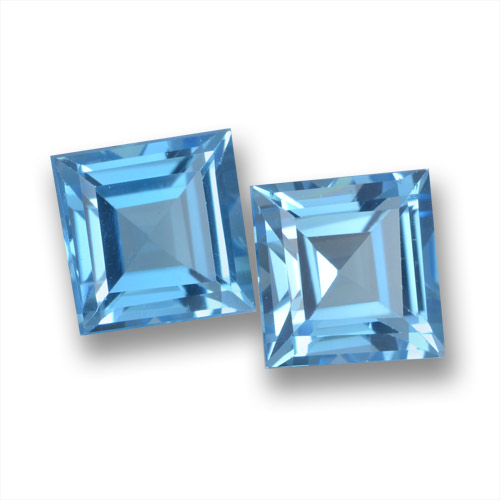 Sky Blue Topaz Gem - 2ct Square Step-Cut (ID: 461714)