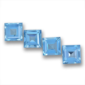 Sky Blue Topaz Gem - 1.9ct Square Step-Cut (ID: 461718)