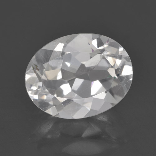 White Topaz Gem - 2.1ct Oval Facet (ID: 462301)