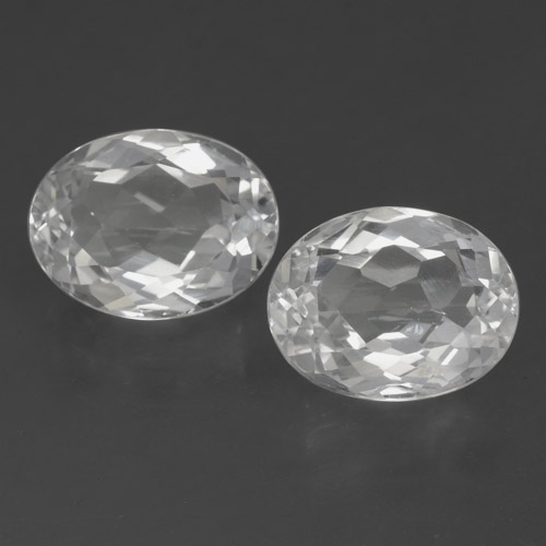 White Topaz Gem - 3.4ct Oval Facet (ID: 462375)