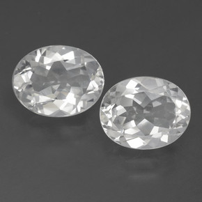 White Topaz Gem - 3.1ct Oval Facet (ID: 462376)