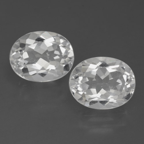 White Topaz Gem - 3.3ct Oval Facet (ID: 462377)
