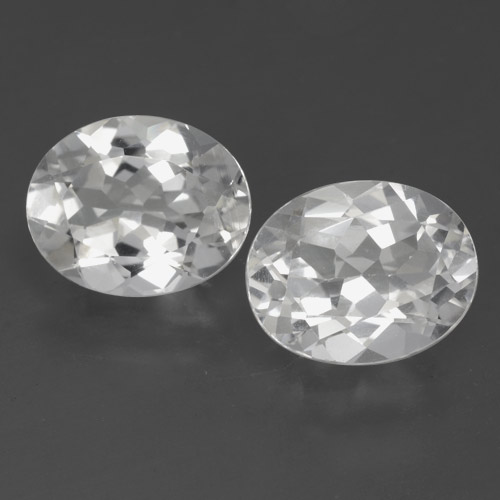 White Topaz Gem - 3.1ct Oval Facet (ID: 462378)