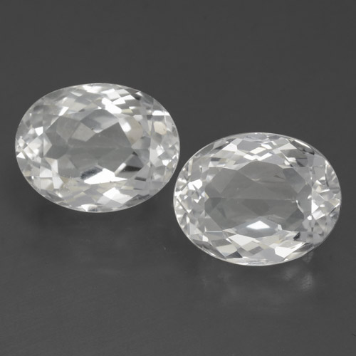 White Topaz Gem - 3.8ct Oval Facet (ID: 462379)
