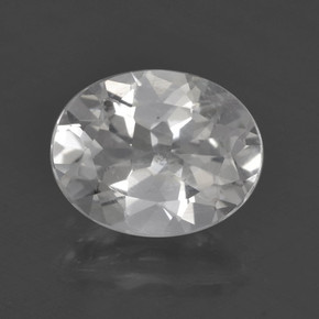 White Topaz Gem - 2.6ct Oval Facet (ID: 462418)