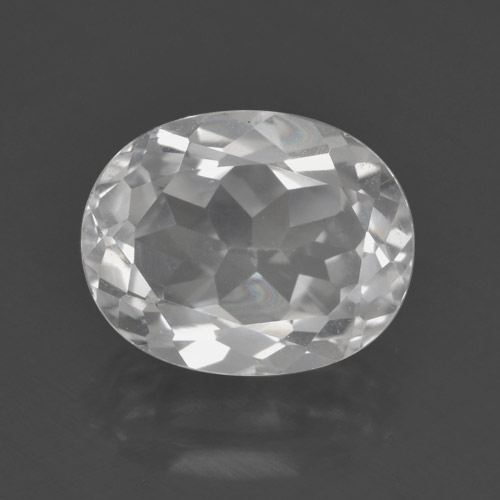 White Topaz Gem - 3.3ct Oval Facet (ID: 462424)