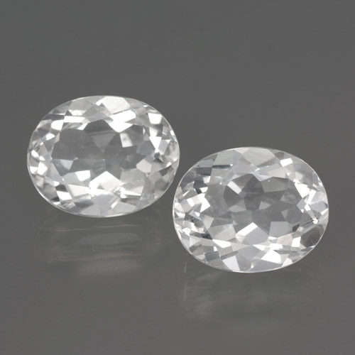 White Topaz Gem - 3.2ct Oval Facet (ID: 462434)