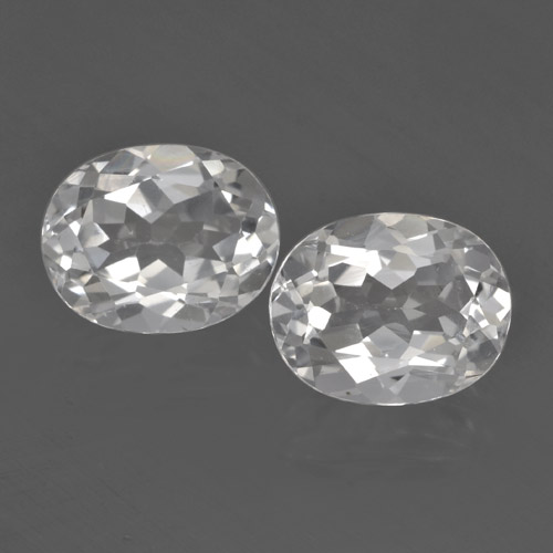 White Topaz Gem - 3.2ct Oval Facet (ID: 462438)