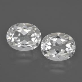 White Topaz Gem - 3.1ct Oval Facet (ID: 462441)
