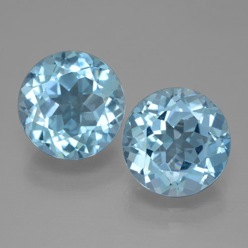 Swiss Blue Topaz Gem - 3.2ct Round Facet (ID: 465679)