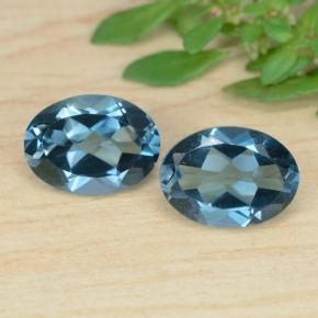 Rich Blue Topaz Gem - 1ct Oval Facet (ID: 471670)