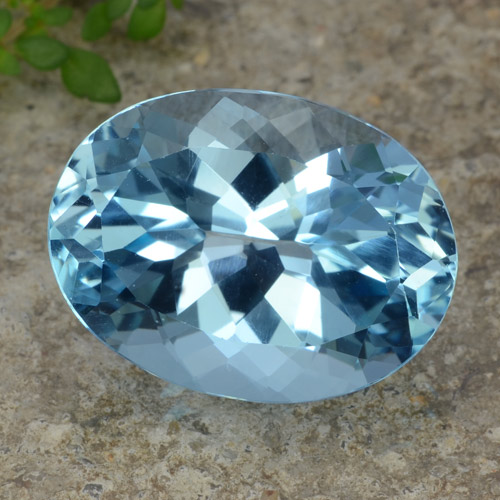 Sky Blue Topaz Gem - 23.2ct Oval Facet (ID: 476881)