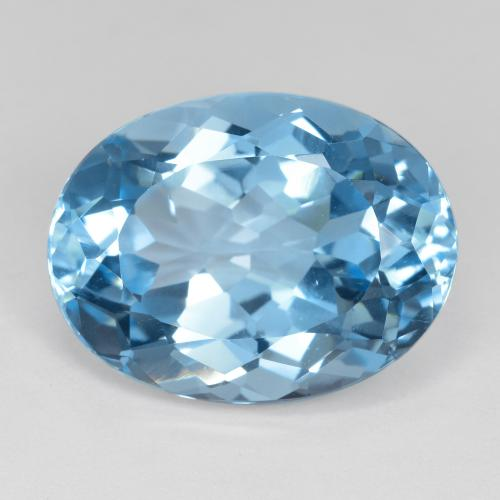 Sky Blue Topaz Gem - 22.7ct Oval Facet (ID: 476882)