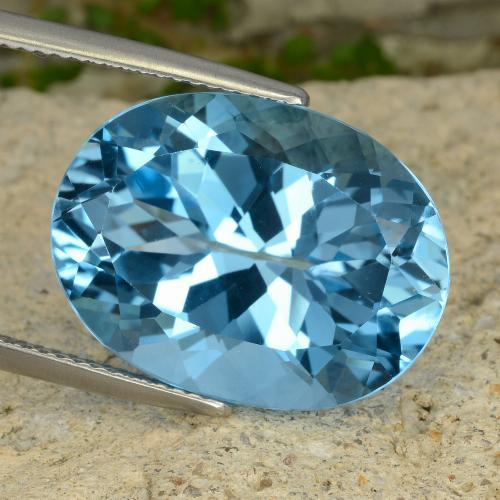 22.6ct Oval Facet Swiss Blue Topaz Gem (ID: 477021)