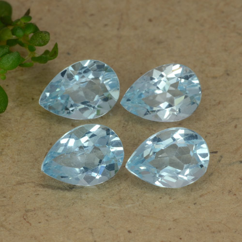 Sky Blue Topaz Gem - 0.8ct Pear Facet (ID: 477873)