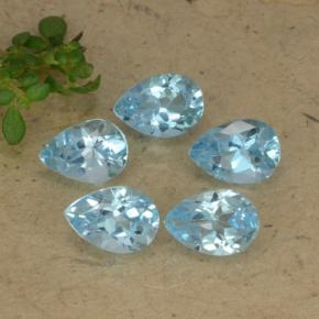Sky Blue Topaz Gem - 0.8ct Pear Facet (ID: 477877)