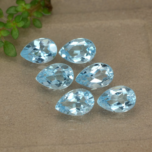 Sky Blue Topaz Gem - 0.5ct Pear Facet (ID: 477964)