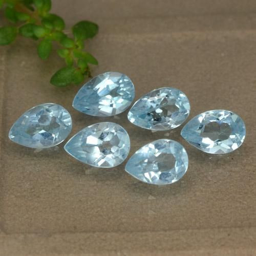 Sky Blue Topaz Gem - 0.5ct Pear Facet (ID: 477972)