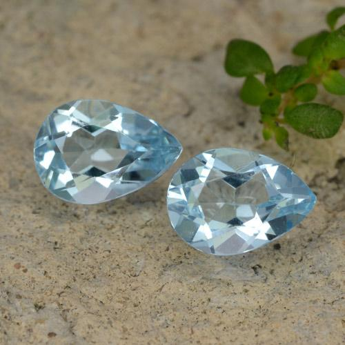 Baby Blue Topaz Gem - 0.8ct Pear Facet (ID: 478085)