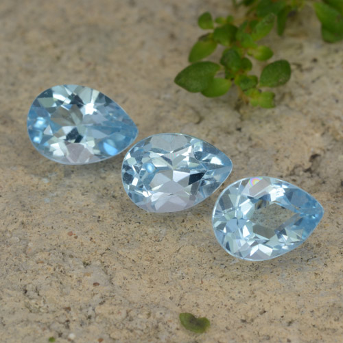 Sky Blue Topaz Gem - 0.9ct Pear Facet (ID: 478089)