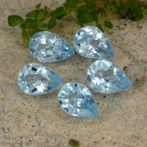 Sky Blue Topaz Gem - 0.7ct Pear Facet (ID: 478093)