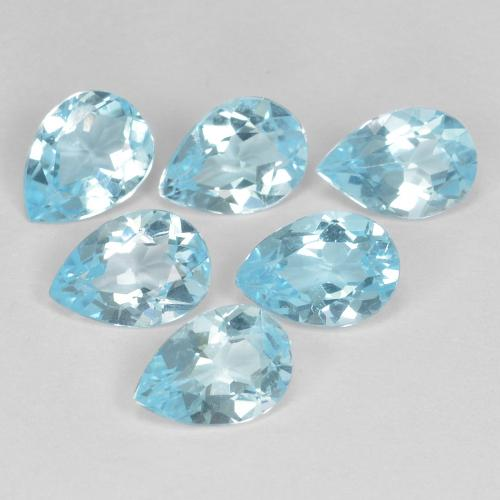 Sky Blue Topaz Gem - 0.7ct Pear Facet (ID: 478095)