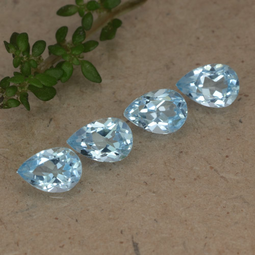 Deep Maya Blue Topaz Gem - 0.6ct Pear Facet (ID: 478216)